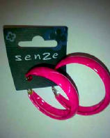 Senze pink hoop earrings (Code 2724)